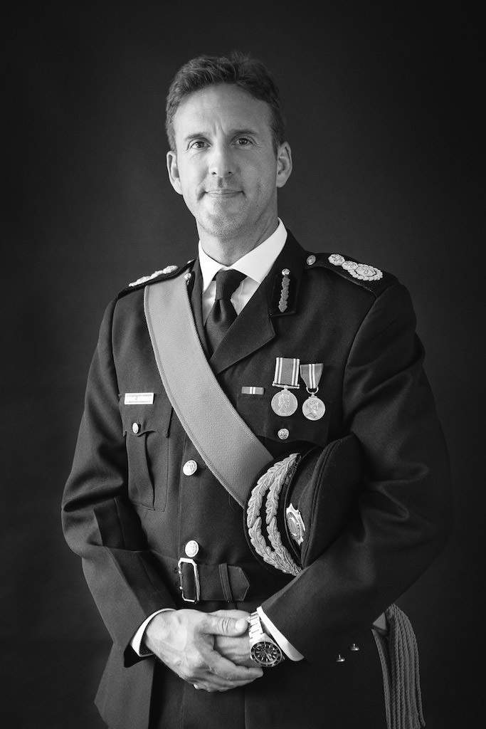 first Chief Fire Officer on British West Indies Chris Gammon
