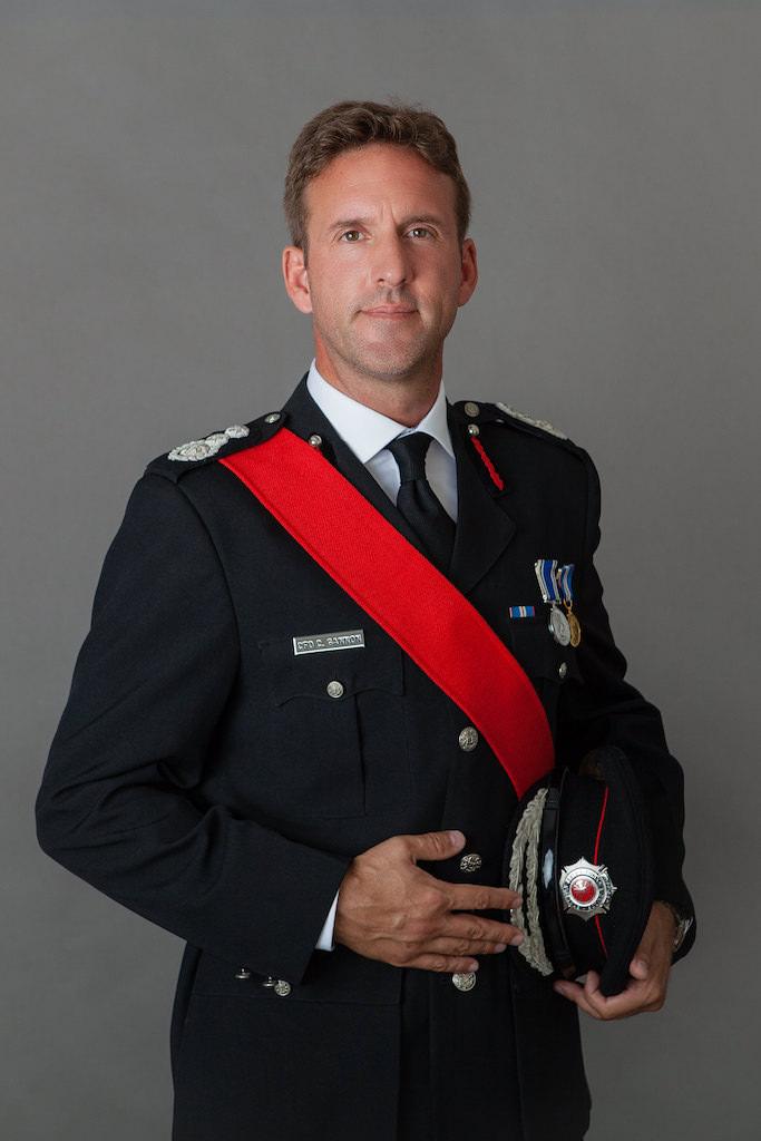 portrait of the fireman Chris Gammon