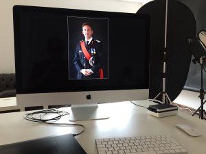 Chris Gannon studio portrait being edited