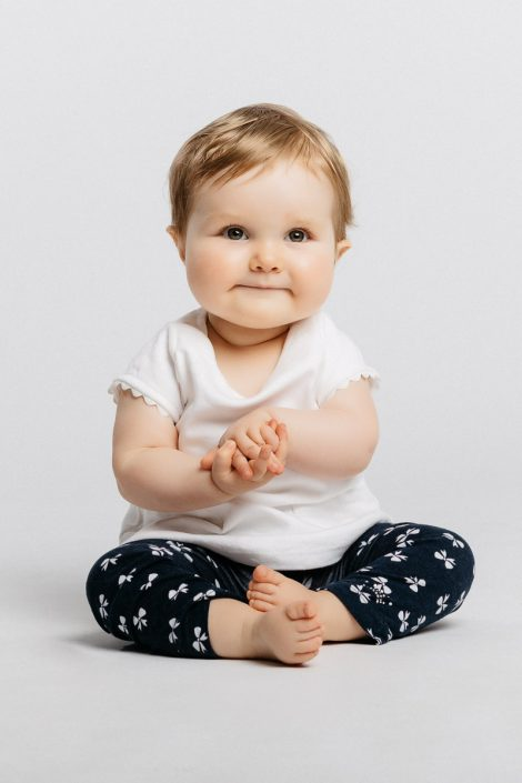 baby in photography studio